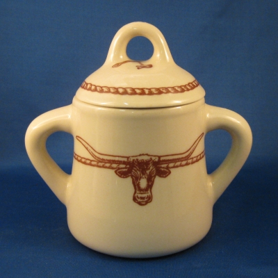 Sky Ranch sugar bowl with lid